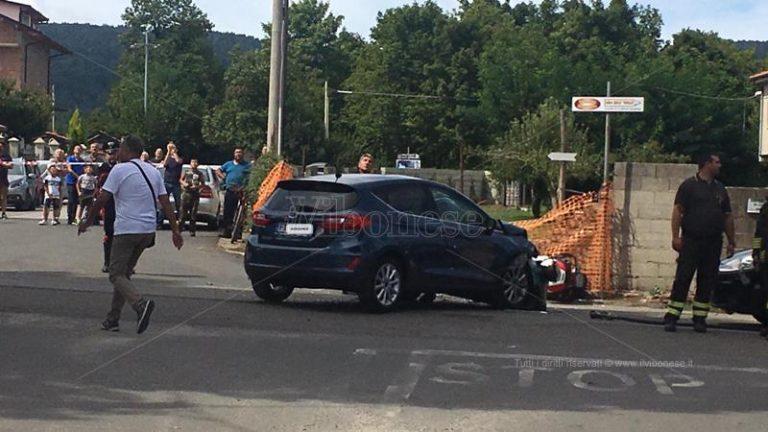 Incidente stradale a Serra: auto contro moto, un ferito