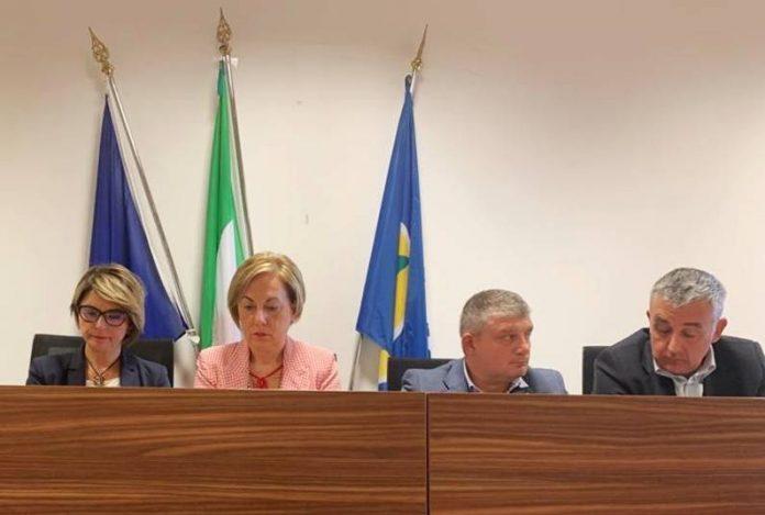 Il sindaco Limardo a Catanzaro, al suo fianco l'assessore Rizzo