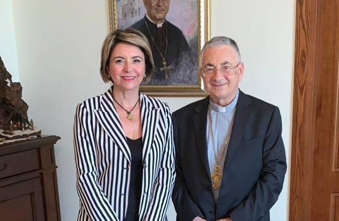 Il sindaco Limardo con il vescovo Renzo