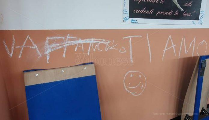 Scritte sui muri della palestra