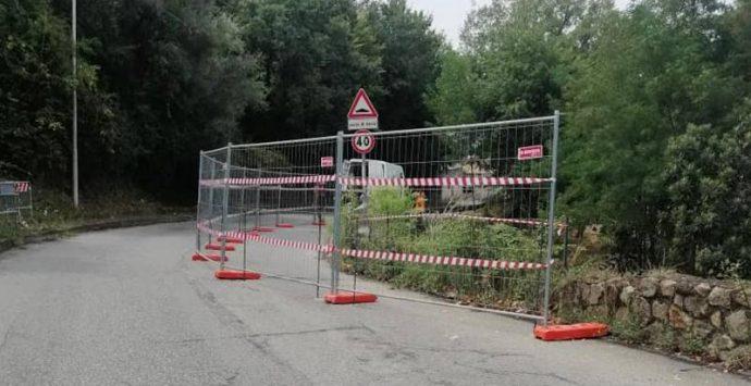 Strada franata a Longobardi, lunedì partono i lavori e arteria off limits