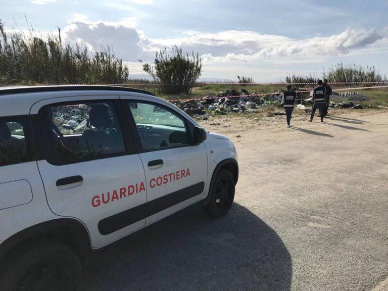 Guardia costiera di Vibo sequestra maxi discarica abusiva a Gizzeria
