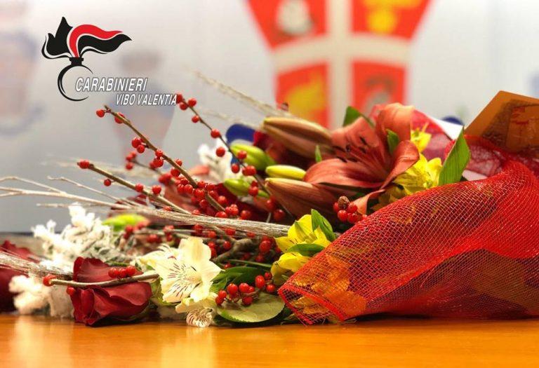 Operazione Rinascita, fiori e caffè per i carabinieri di Vibo