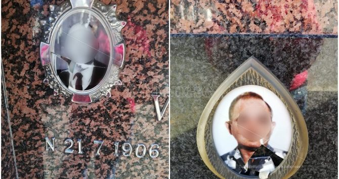 Vandalizzate alcune foto dei defunti al cimitero di Potenzoni