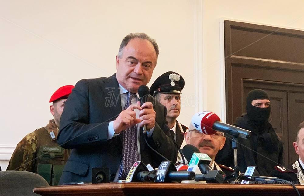 Arresti nel Vibonese, Gratteri: «Giornata storica» - Video