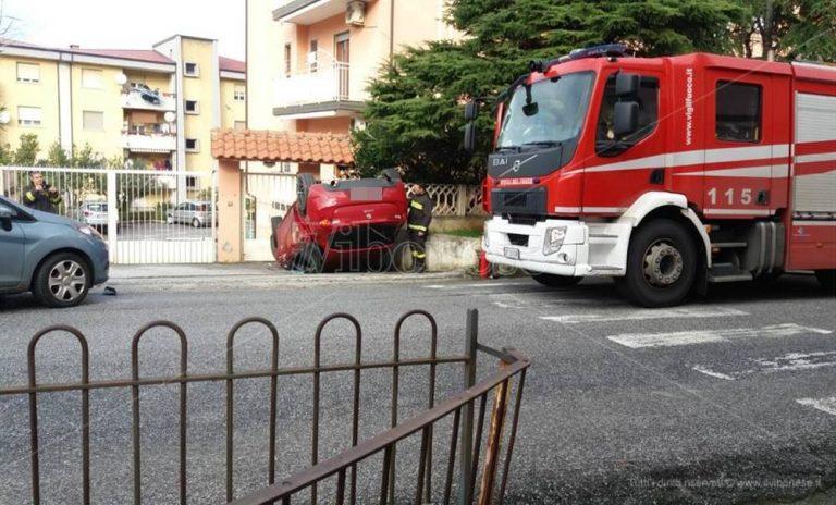Incidente stradale a Vibo Marina, coinvolto calciatore della Vibonese – Foto