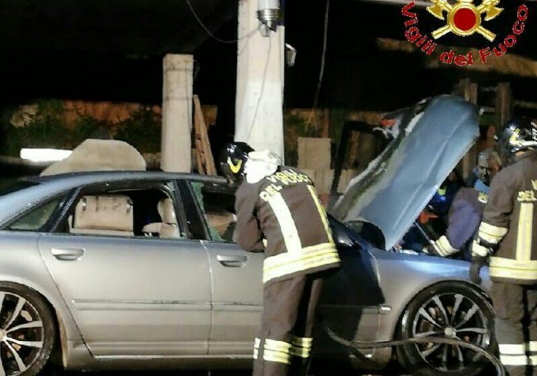 Auto incendiata a Maierato, intervento dei Vigili del fuoco