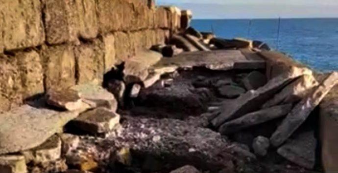 Briatico, il porticciolo dei pescatori devastato dalle mareggiate – Video