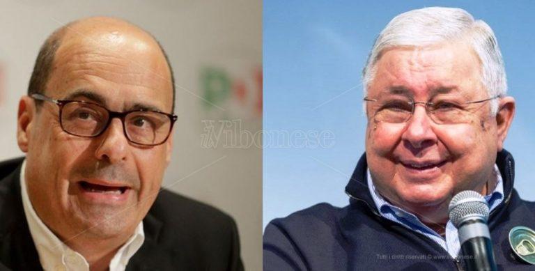 Regionali, Zingaretti a Maierato in visita allo stabilimento Callipo