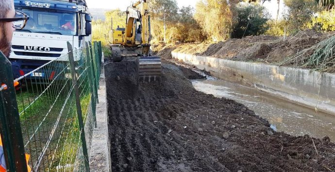 Messa in sicurezza, pulizia straordinaria del torrente Sant'Anna di Bivona