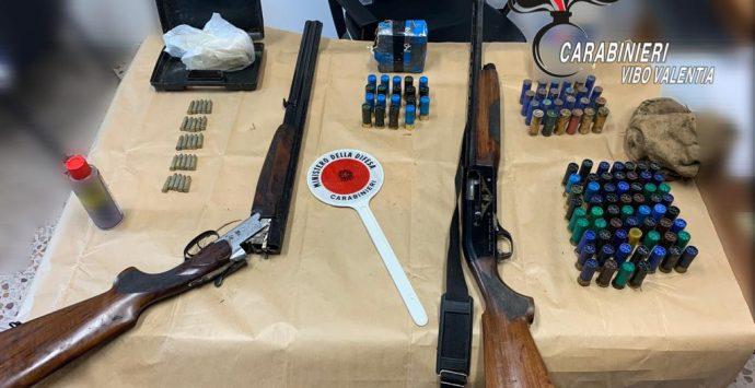 Armi e munizioni scovate dai Carabinieri a Cessaniti