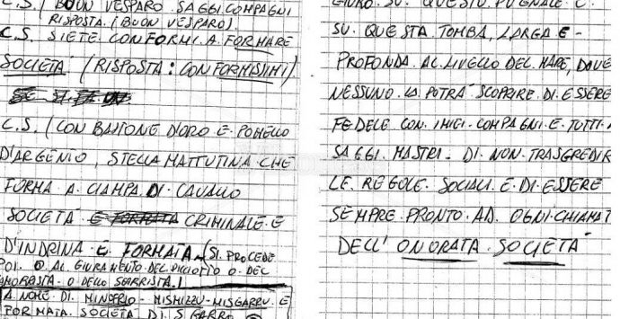 Rinascita-Scott, nei pizzini le formule di affiliazione alla 'ndrangheta – Foto/Video