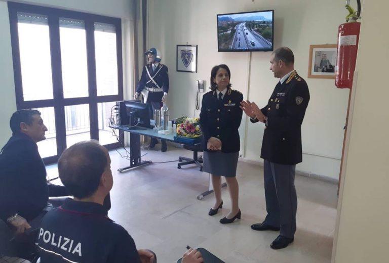Polizia stradale, la dirigente Naso in visita alla sezione di Vibo