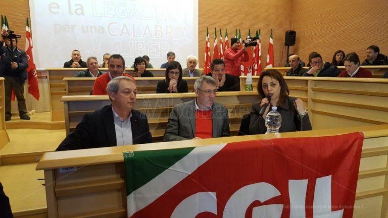 Lavoro e legalità, Landini a Vibo: «Urge un piano per l'occupazione» – Video