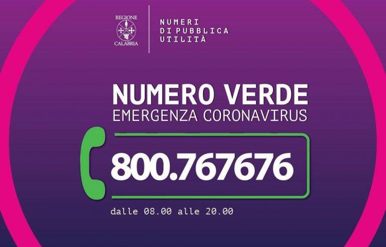 Coronavirus, la Regione Calabria emana un'ordinanza e lancia un numero verde