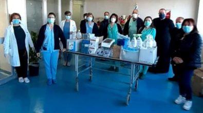 Dpi e attrezzature mediche in dono agli ospedali di Vibo e Tropea