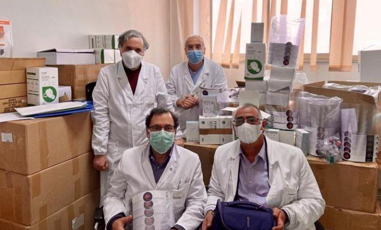 Dall'associazione Valentia 840 mascherine e 80 visiere all'ospedale di Vibo