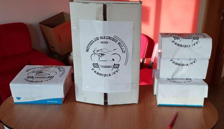 Coronavirus: il Moto club di Fabrizia dona 500 mascherine