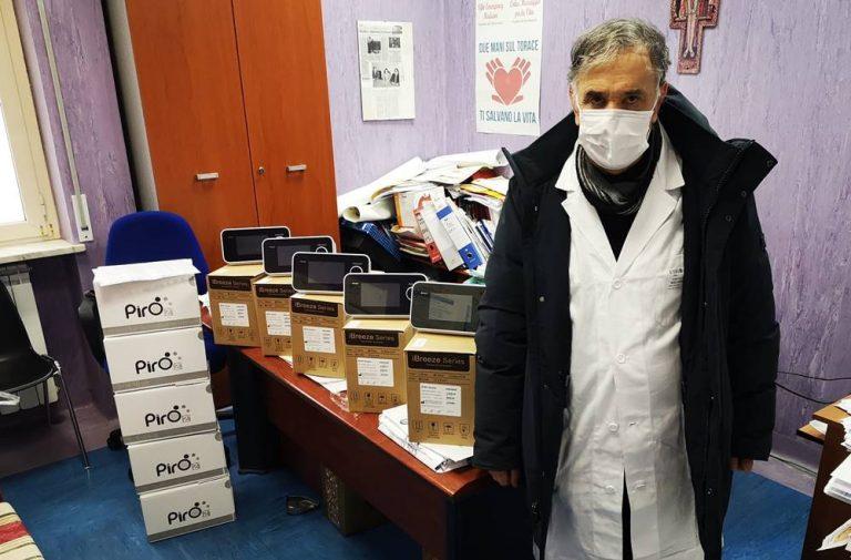 Coronavirus, consegnati allo Jazzolino di Vibo 5 ventilatori polmonari