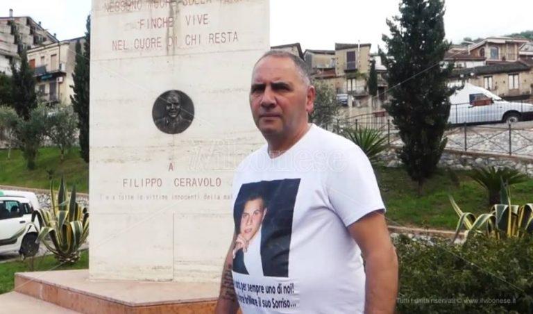 Otto anni dalla morte di Filippo Ceravolo, il papà: «La mia vita per avere giustizia»