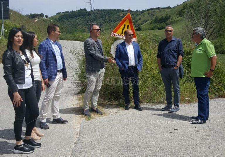 Strada chiusa fra Mileto e Dinami, incontro con la Provincia