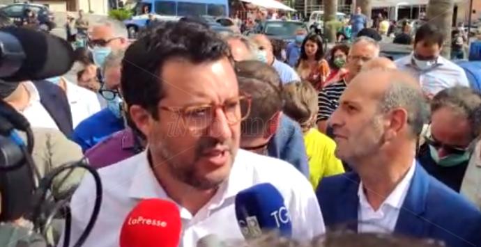 Elezioni in Calabria, tappa a Mileto per il leader della Lega Salvini