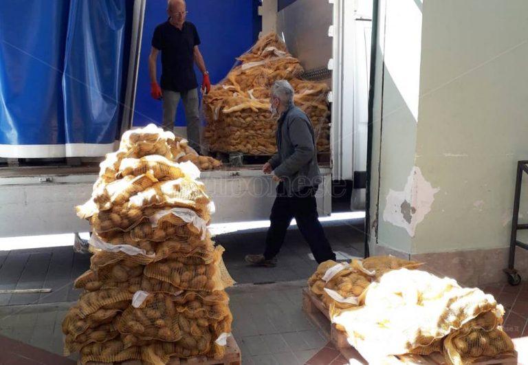 Solidarietà alimentare, 1500 chili di patate in dono ai bisognosi di Vibo