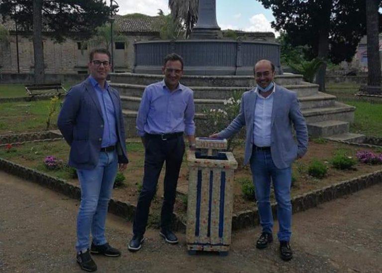 Posacenere artigianale donato alla villa di Mileto