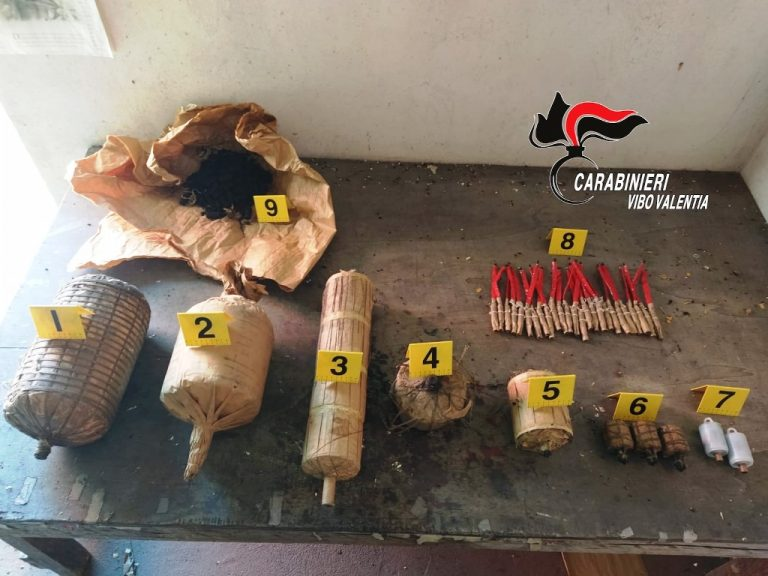 Soriano, i Carabinieri sequestrano 30 chili di materiale esplodente