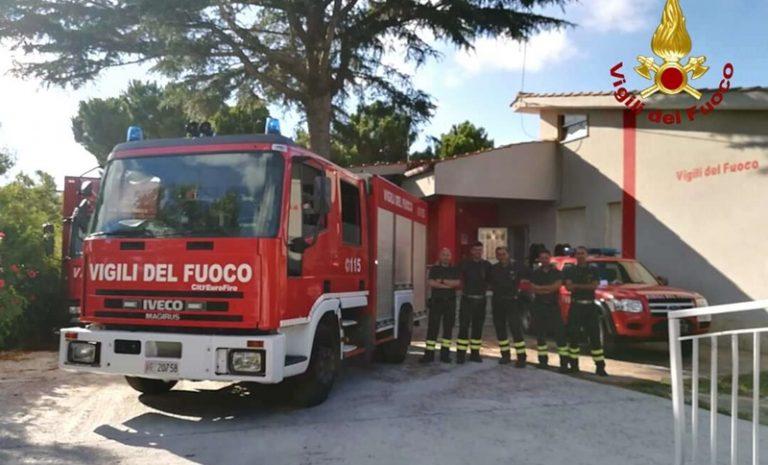 Distaccamento dei Vigili del fuoco attivato a Ricadi