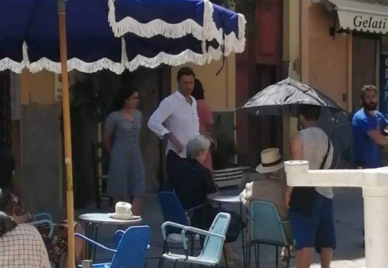 Tropea, Raoul Bova e compagna sul set dello spot per la Calabria