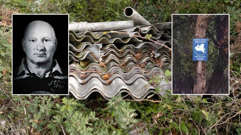 """""""Imponimento"""", quel carico da 300 metri quadri di eternit buttato nel bosco sotto tutela"""