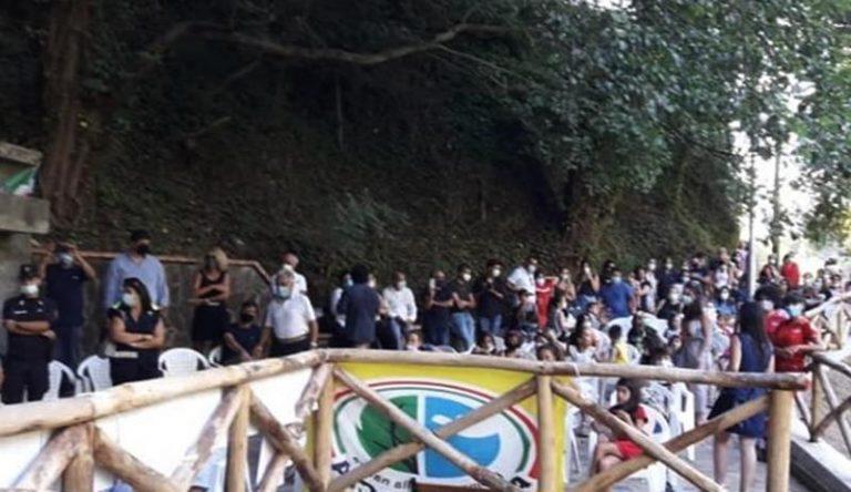 Consegna di un'area verde a Dasà alla presenza dei bambini
