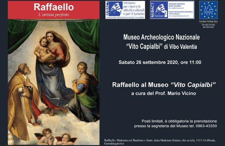 Il genio di Raffaello sbarca al Museo di Vibo con una lectio magistralis