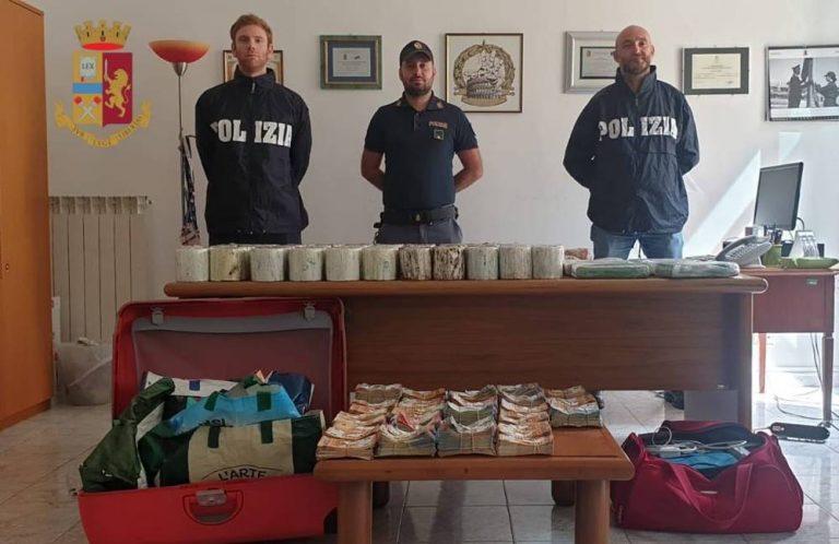 Mezzo quintale di cocaina e 400mila euro in contanti, arrestati a Roma due vibonesi