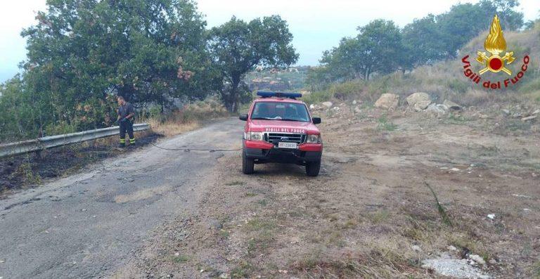Ben 22 incendi nel Vibonese, interrotta la linea ferroviaria