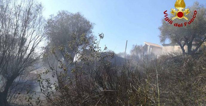 Incendio minaccia il cimitero di Panaia, in fumo un ettaro di macchia mediterranea – Foto