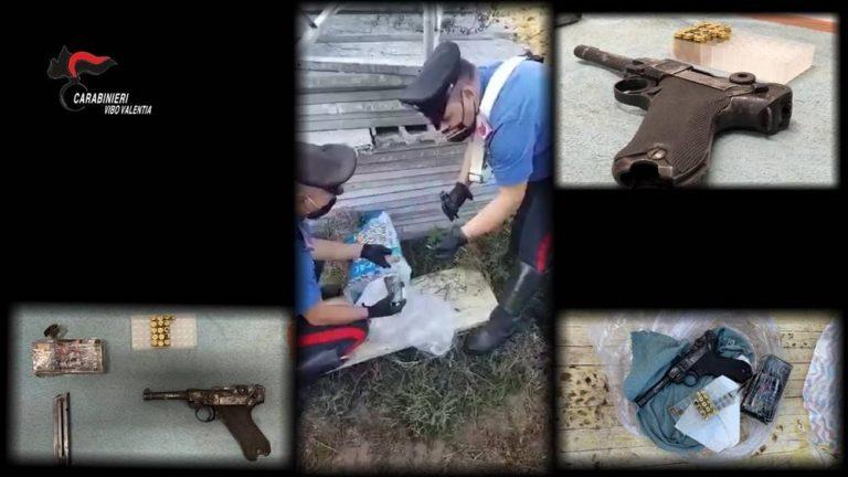 Zungri, una P38 nascosta tra travi e ponteggi: arrestato un 28enne – Video