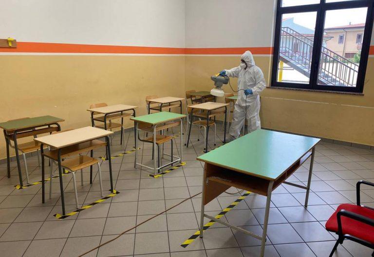 Il Liceo Berto di Vibo sanificato in vista dell'avvio delle lezioni