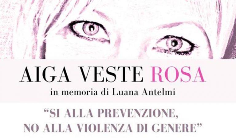 Aiga veste rosa: «Si alla prevenzione, No alla violenza di genere»