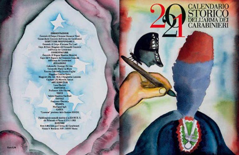 Dante e Pinocchio nel calendario storico dei Carabinieri 2021
