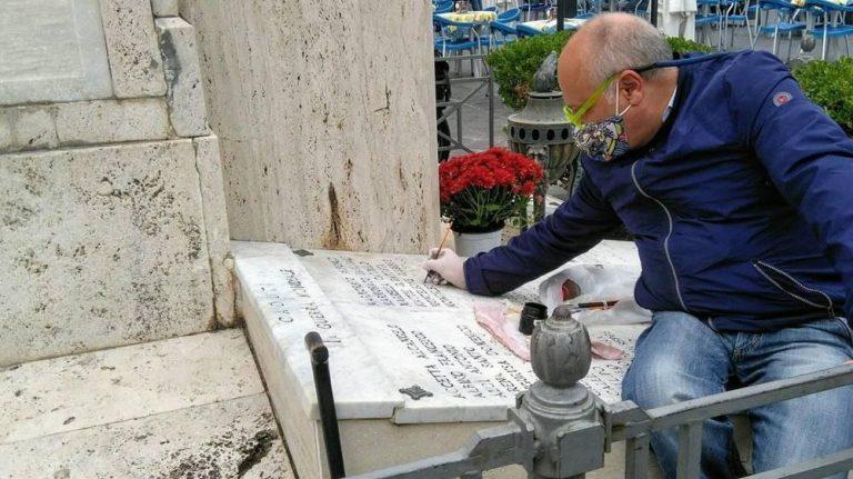 Pizzo, Montesanti rende leggibili i nomi dei caduti in guerra
