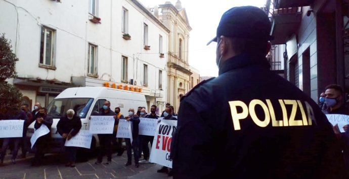 Vibo Valentia, la protesta dei commercianti e degli ambulanti calabresi -Video