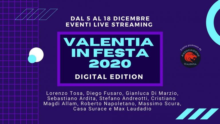 """Torna """"Valentia in Festa"""", edizione online per la kermesse culturale"""