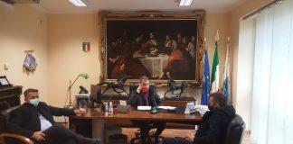 Il presidente Solano con i consiglieri Anello e Vasinton