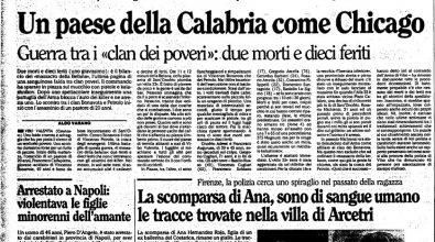 La pioggia e poi l'inferno: trent'anni fa a Sant'Onofrio la strage dell'Epifania