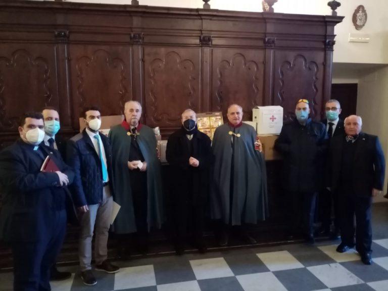 La delegazione del Sacro Militare Ordine Costantiniano di San Giorgio in visita a Nicotera