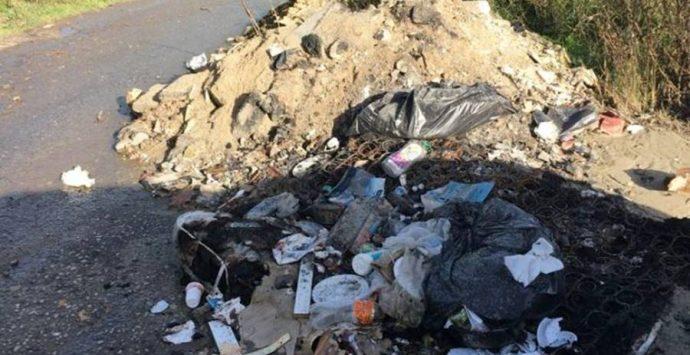 "Mileto, località ""Vindacitu"" invasa dai rifiuti"