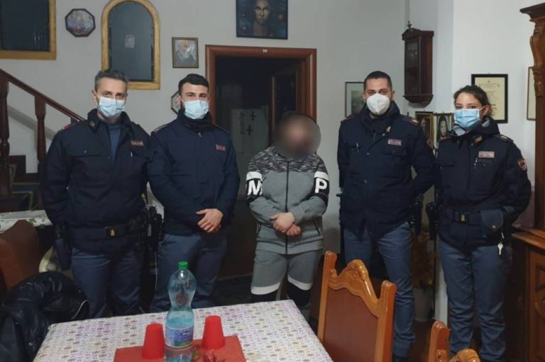 Vaga per Vibo impaurita e senza soldi, i poliziotti le pagano l'alloggio
