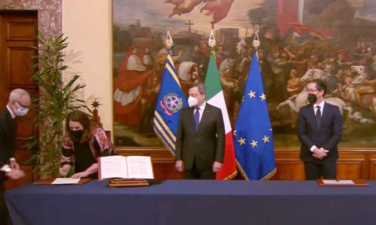 Governo, Dalila Nesci giura come sottosegretario: «Sud troppo spesso dimenticato»